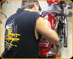Photo of Custom Striping a Motorcycle by Casey Kennell