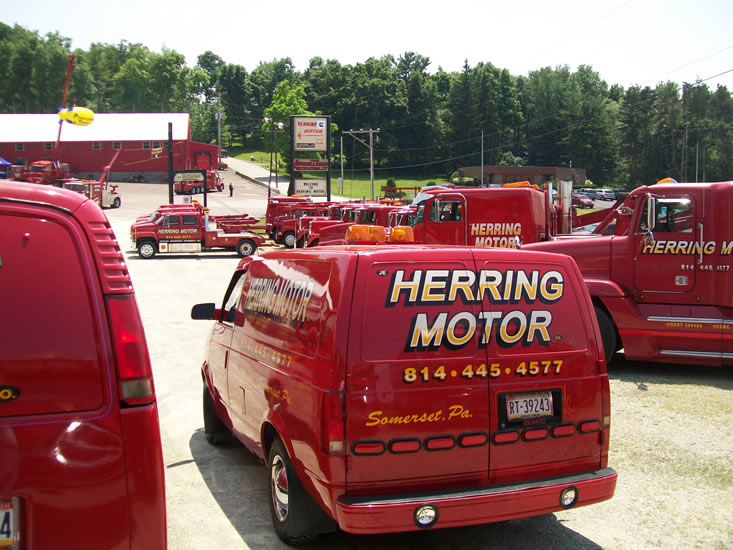 The paint chop truck lettering for Motor truck of pa